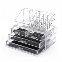 Makeup Organizer Clear Acrylic Cosmetic Storage Drawers Transparent Jewelry Display Box thumbnail image