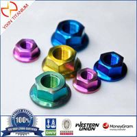 Nitrided color hex flange nuts
