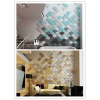 cheat resistant insulation wall panels/wallpaper for interior wall Art soft 3d leather wall panel
