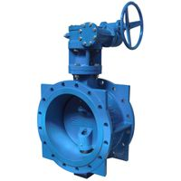 double eccentrice double flange butterfly valve