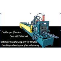 C80-300/Z120-300 purlin interchangeable roll forming machine
