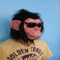 monkey mask the lazy song funny cosplay