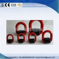 China heavy duty load g80 weld on forged D ring lifting points