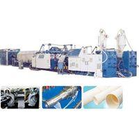 PVC/PE single wall corrugated pipe production line
