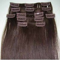 100% Human hair remy straight Clips in Hair Extensions thumbnail image