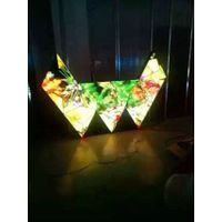 Indoor P4 Full Color Special Shape Large Isosceles Right Triangle LED Display Screen