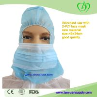 Disposable Hood Cap Astra Caps Surgical Hood Cover With Mask And Beard Cover