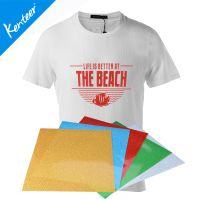 Kenteer A4 size 8colors 8pcs one bag glitter heat transfer vinyl for garments