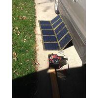 100w Mono Solar Panel Folding Kit Caravan 4X4 Car Camping thumbnail image
