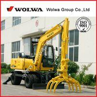 DLS880-9AG wheel sugarcane loader excavator with grapple thumbnail image