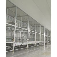Building Material Cleanroom System Industry Protection Cover Alu Frame Steel Tool Partition