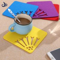 laser cutting talbe coffee cup coaster/ mat