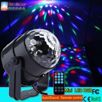 New design mini led magic ball light remote control RGB led disco light factory wholesale