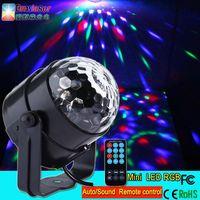 New design mini led magic ball light remote control RGB led disco light factory wholesale