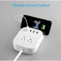 2Outlet desktop power strip with 4 USB charging ports thumbnail image