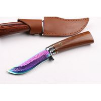 Damascus knife camping knife hunting knife