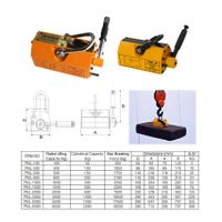 Magnetic Lifter 100-6000kg with 3.5 Safety Factor