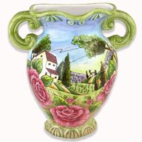 Hand Painted Flower Plant Mini Decorate Pottery Hanging Vase