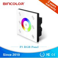 Bincolor P3 Wildly used white wall mounted led light touch panel rgb manual switch controller thumbnail image