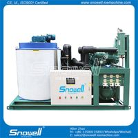 Snowell Industrial Ice Making Machines Flake Ice Maker 10 Ton With Water Cooler SF10T-R4W thumbnail image
