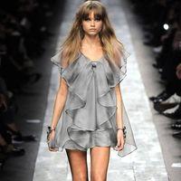 2015 Summer New Type Ruffles Ou Gensha Voile Dress Cute Fashion Noble Party Dress thumbnail image