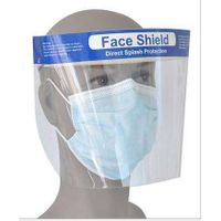 Plastic disposable face shield