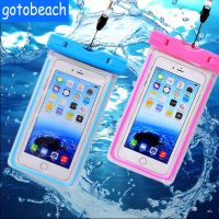 Luminous waterproof mobile phone bag universal 6 inch swimming diving bag for mobile phone
