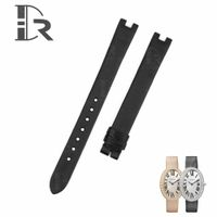 Handmade Lady Cartier Baignoire Watch Strap Black Satin Watch Band for Sale thumbnail image