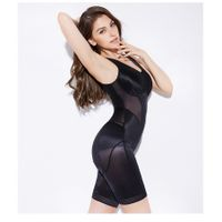 Thin and seamless tummy tuck and butt lift shape wear seaweed corset jumpsuit lingerie