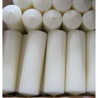 big white church pillar candle