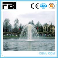 stainless steel lake fountain, floating music fountain