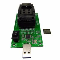Clamshell Structure eMCP221 Reader to USB, for BGA 221 testing, size 11.5x13mm, nand flash programme