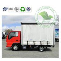 Flame Retardant  Blue Tarpaulin Truck Side Curtain for Standard Conta