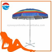 260CM*10K fibre glass ribs aluminum umbrella