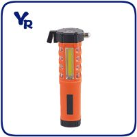 Multifunction Plastic Emergency Light Tool light and Flashlight with Hammer and Belt Cutter thumbnail image