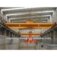 QZ model double girder mobile overhead crane with grab 5-20t thumbnail image