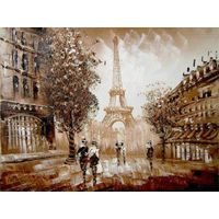 Street View Oil Painting Wall Gallery Framed Art