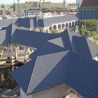Earthquake resistance stone coating roof tiles