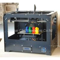 3D Drucker Black Bzier Black Casing CTC 3D printer with 2 head (dual-extruder)