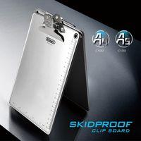 Glosen A4 Size Aluminum Clipboard Butterfly Clip C1082