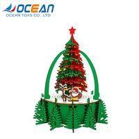 Christmas tree decoration educational game 105pcs 3d wooden puzzle thumbnail image