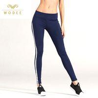 Women black sports yoga leggings wholesale
