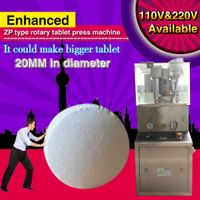 Enhanced ZP9 Rotary Tablet Press Machine,enforcement hopper,9 set punch die mold,pill presser thumbnail image