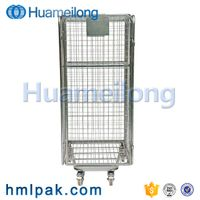 Warehouse collapsible logistic detachable wholesale industrial steel transport roll cage thumbnail image
