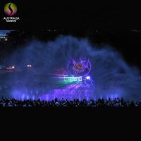 Outdoor Lake Floating Water Screen Movie Fountain With Laser Projector thumbnail image