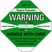 Hot Shockwatch Label For Transport Impact Indicator Sticker Sensor Label Shock Label