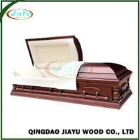 Trade assurancel china wholesale funerary casket with nice fabrics interior
