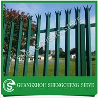 Anti-vandal palisade design high level security galvanized steel pickent fencing for sale