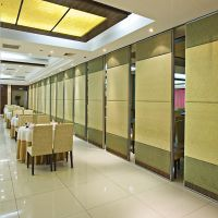 Folding Banquet Hall Melamine Surface Sliding Wooden Partition Wall