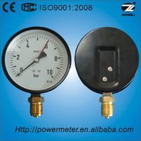 100mm general pressure gauge steel case bourdon tube pressure gauge